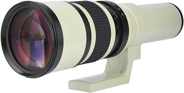 V BESTLIFE Teleobjetivo F6.3 de 500 mm para cámaras réflex ...