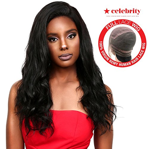 Celebrity 100% Virgin Remi Human Hair Hand Made Full Lace Wig Effortless Glam (NATURAL) (24