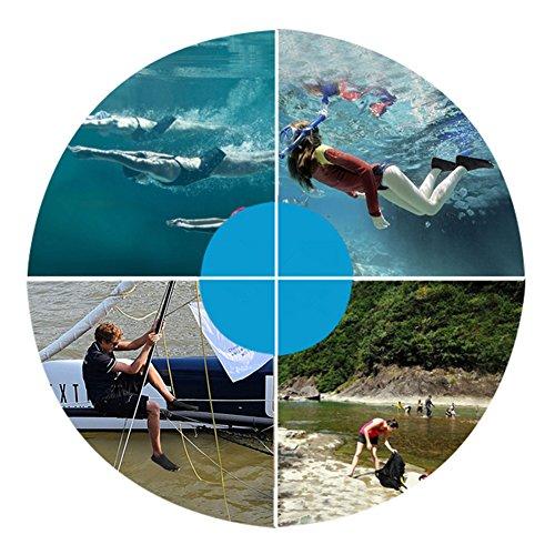 SAGUARO Badeschuhe Strandschuhe Aquaschuhe Wasserschuhe Schwimmschuhe Surfschuhe für Damen Herren Kinder Grau