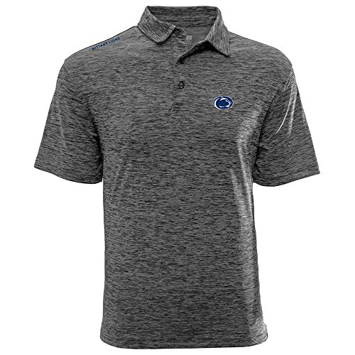 Levelwear LEY9R NCAA Penn State Nittany Lions Adult Men Haze Wordmark Polo, X-Large, Heather Charcoal ()