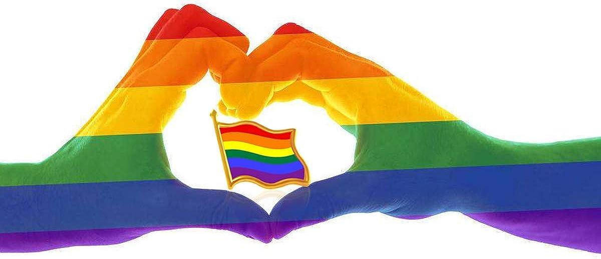 Rhungift 10//20//50Pack Rainbow Flag Pins Jewelry Quality Enamel Pride Lapel Pin Gay LGBT Lapel Pins
