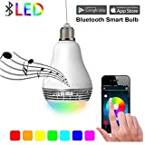 Aelite Smart Bluetooth Light Bulb Speaker Smartphone Controlled Led Music Disco Light Bulb 4w Multicolored Dimmable Bluetooth Night Light Bulb E27 Base