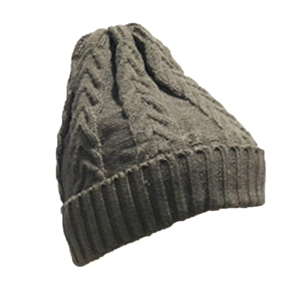 Inkach Baby Knit Lined Hats, Children's Winter Warm Slouchy Skull Caps, Toddler Boys Girls Beanie Hat (Green)