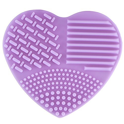 Molie Makeup Brush Cleaning Mat Silicone Heart-shaped Finger Glove Hand Washing Brush Cleaner Scrubber Suction Cup ()