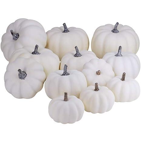 artificial white pumpkins