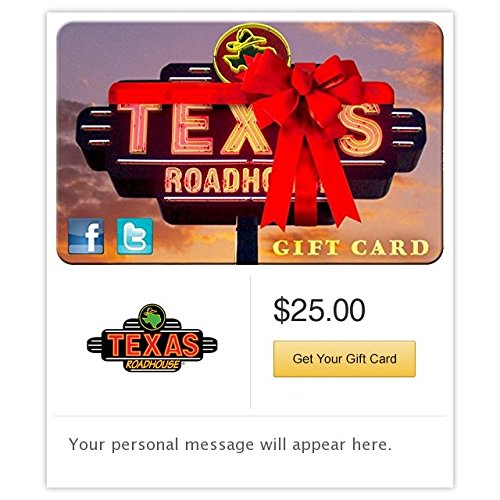 Texas Roadhouse Ribbon Email Gift Card (Best Thing To Eat At Texas Roadhouse)