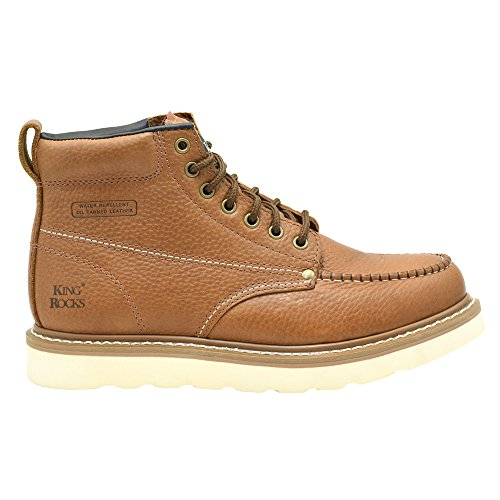 Image of King Rocks Men's Moc Toe Construction Boots Work Shoes