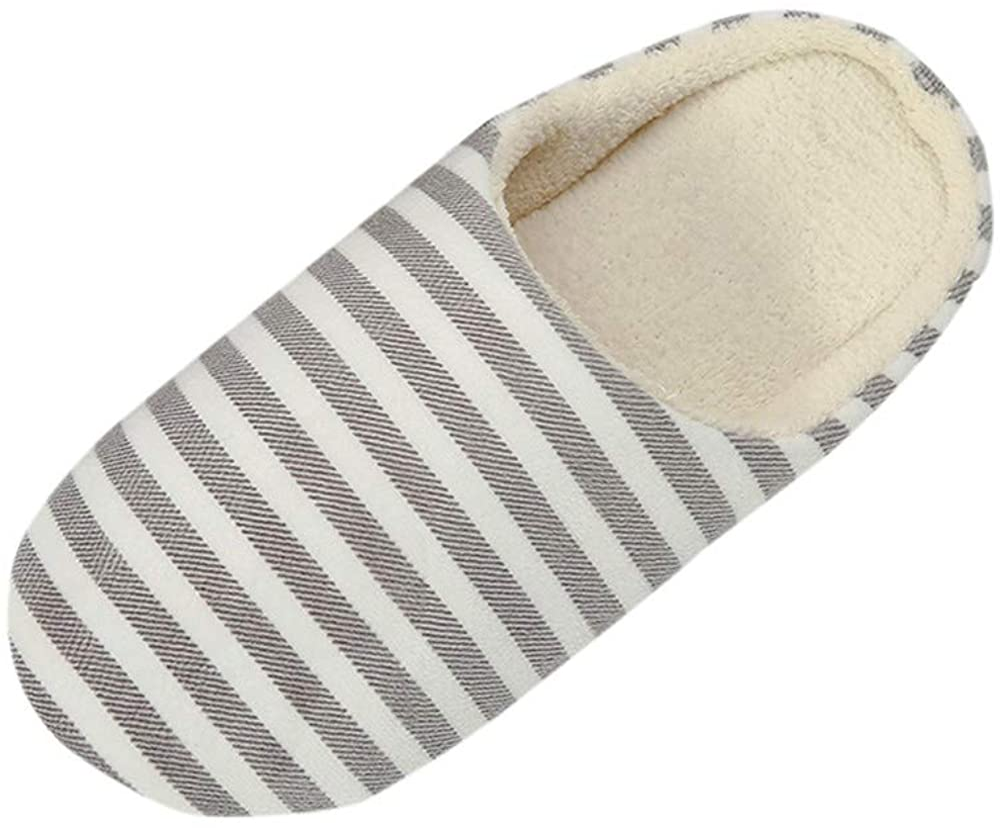 Hausschuhe Damen Herren Gef/üttert Warm Elegant H/üttenschuhe M/änner Frauen Fell Streifen Antirutsch Schuhe