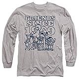 A&E Designs Sesame Street Long Sleeve T-Shirt Friends Since 1969 Heather, MD