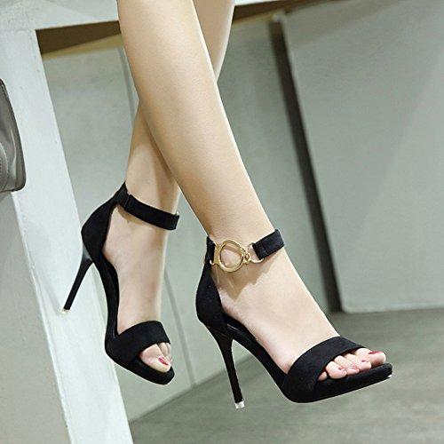 Sandalo Open Toe Con Tacco A Spillo E Punta Aperta