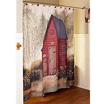 The Lakeside Collection Outhouse Shower Curtain
