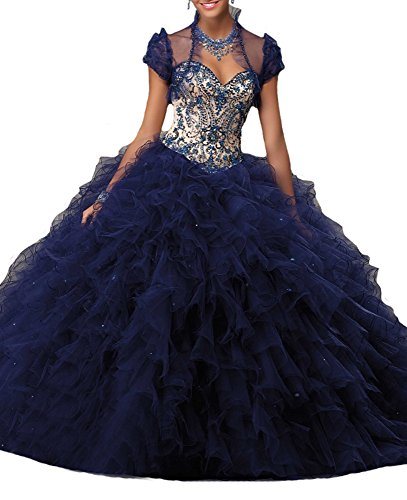 Sweetheart amp;Jan Quinceanera CIQ Blue Dimond 16 Pageant Women's Navy Dresses Sweet 1gnFFWA