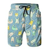 Lazy Sloth Men's Athletic Shorts Quick Dry Beach Surf Shorts Swim Trunk