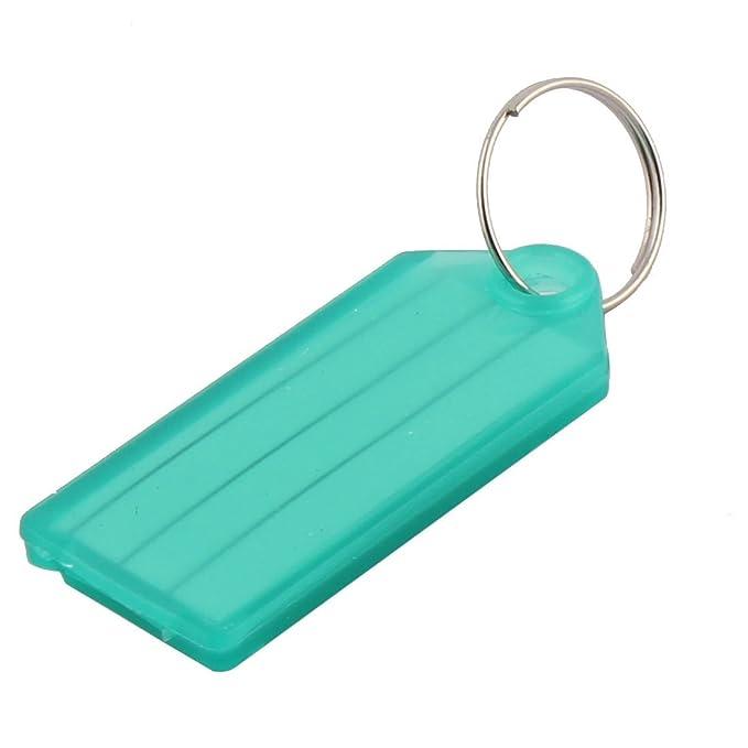 Amazon.com : eDealMax plástica del viaje al aire Libre en Forma de rectángulo maleta de equipaje de la etiqueta del Llavero 5pcs : Office Products