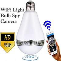 Security Camera Light Bulb Spy Cam Wifi HD EstesPros (Updated version) 360 Degree View Dome Monitor Indoor and outdoor