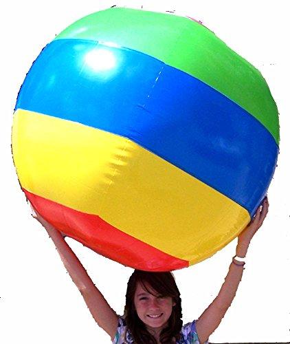 (Huge Jumbo 48 Inch Toy Inflatable Striped Beach Ball)