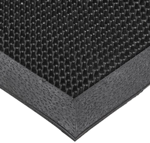 NoTrax T28 SBR Rubber Finger Scrape Entrance Mat, for Wet and Dry Areas, 36