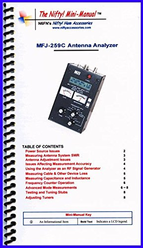 MFJ-259C Antenna Analyzer with Nifty! Quick Refernce Guide and Ham Guides Pocket Reference Card Bundle! by MFJ (Image #2)