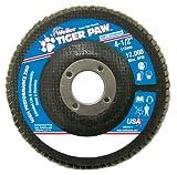 Weiler 51163 Tiger Paw XHD Super High Density Abrasive Flap Disc, Type 27 Flat Style, Phenolic Backing, Zirconia Alumina, 4-1/2'' Diameter, 7/8'' Arbor, 80 Grit, 12000 RPM (Pack of 10)