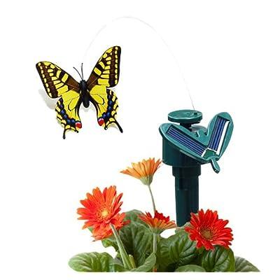 CNZ Solar Powered Fluttering Butterfly (Swallowtail Yellow) : Garden & Outdoor