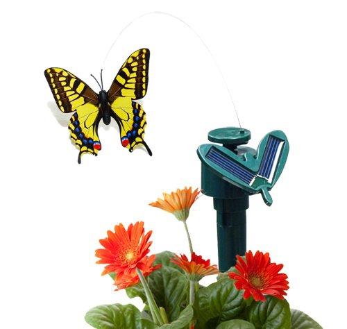 (CNZ Solar Powered Fluttering Butterfly, Swallowtail Yellow)