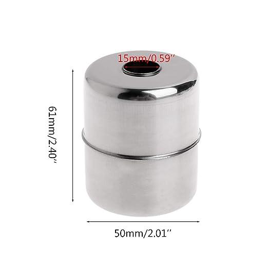 JENOR 51 * 61 * 15 mm bola de acero inoxidable flotador magnético flotante nivel interruptor pequeños accesorios sensor de flujo de agua: Amazon.es: ...