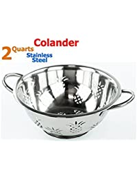 Want 2 Quart High Quality Pineapple Stainless Steel Deep Colander / Strainer offer