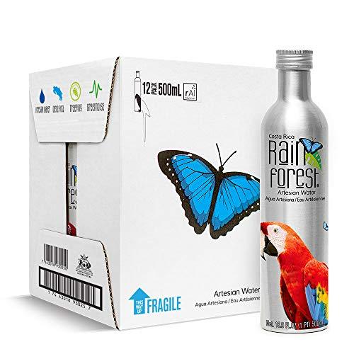 Rain Forest Artesian Water 500mL Aluminum, Box of 12