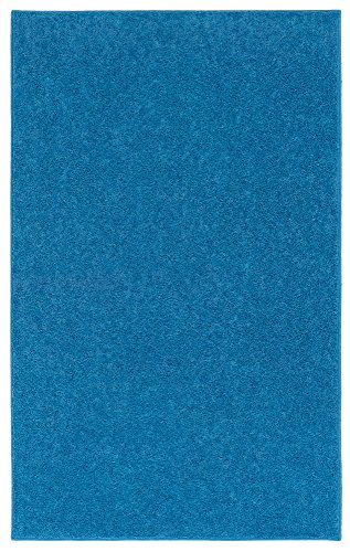Nance Industries OurSpace Bright Area Rug, 5-Feet by 7-Feet, Royal Sky Blue (Sky Blue Rug)
