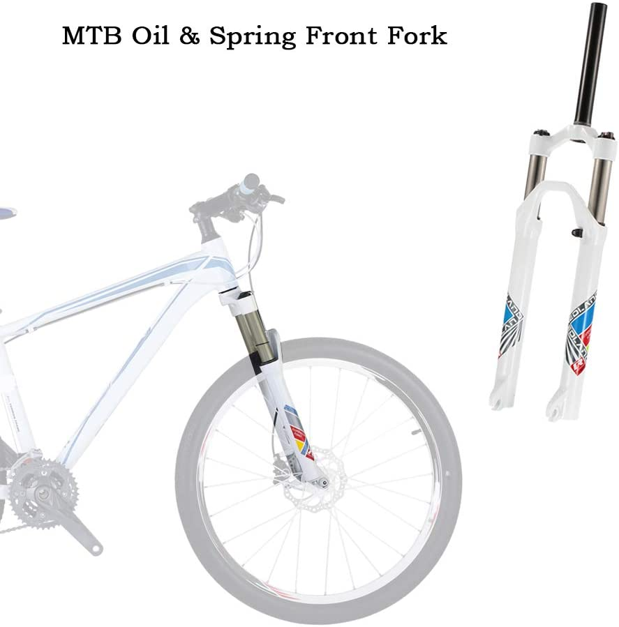 Lixada Ultra-Light Mountain Bike Oil//Spring Front Fork Bicycle Accessories Parts Cycling Bike Fork 26 29 27.5