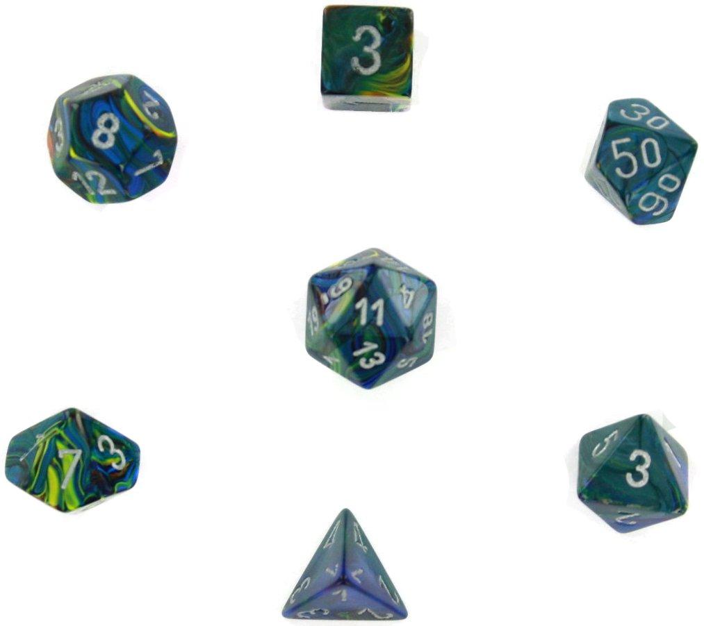 【 新品 】 Chessex Dice: - Polyhedral 7-Die Festive Set Dice Set - Green Festive w/silver CHX-27045 B000XQOGK6, 輸入家具雑貨の専門店 e木楽館:117cb2a6 --- cliente.opweb0005.servidorwebfacil.com
