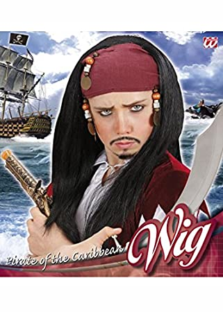 Peluca estilo pirata de niños Jack Sparrow