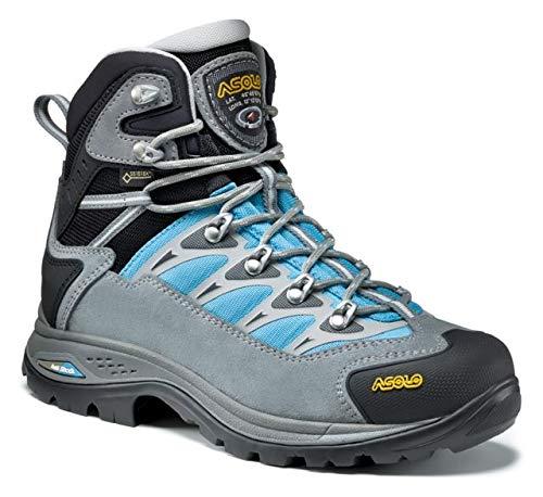Asolo Touchstone GV ML Hiking Boot - Womens, Cloudy Grey/Blue Atoll, 8.5, A23115 A23115 0086300085 ()