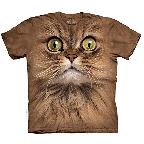 Kinder T-Shirt Big Face Brown Cat