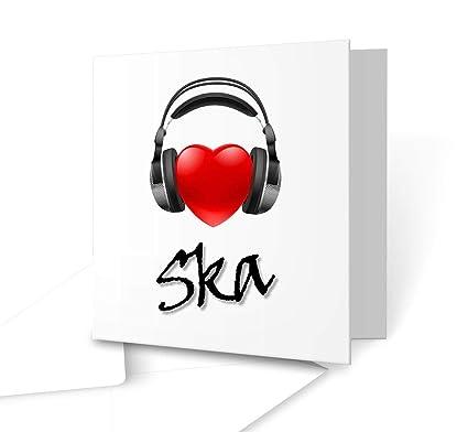I Love música auriculares tarjeta de felicitación - Ska ...
