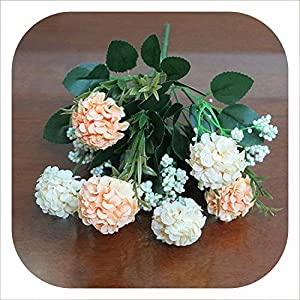 Memoirs- Artificial 7 HeadsBouquet Chrysanthemum Daisy Silk Flower Colorful Fake Flowers Leaves Home Garden Party Decor Flores,E 92