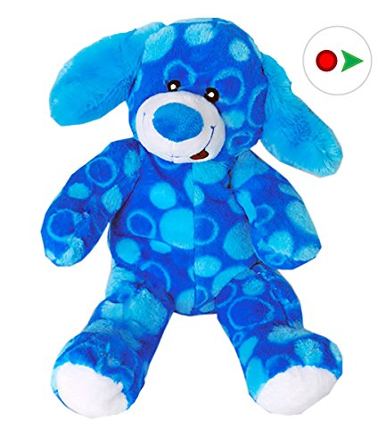 Record Your Own Plush 16 inch Blue Dog - Ready 2 Love in a Few Easy Steps