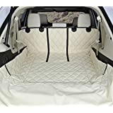 4Knines SUV Cargo Liner for Fold Down Seats - 60/40 Split and Armrest Pass-Through Compatible - USA Based Company (Large, Tan)