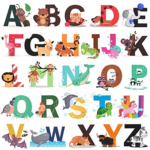 Alphabet H2MTOOL Removable Stickers Nursery product image