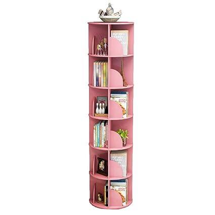 Amazon com: Jcnfa-Shelves Rotating Bookshelf 360 Degree Rotating
