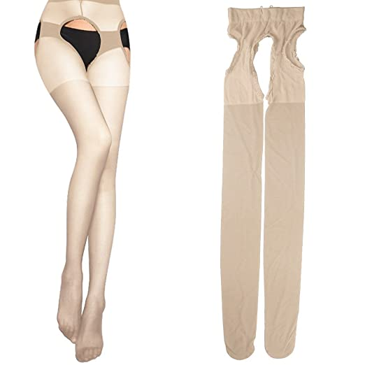 c81099484dd Image Unavailable. Image not available for. Color  Sexy Womens Sheer Lace  Top Thigh-highs Stockings   Garter ...