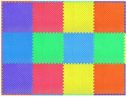 524f92c92d9d4 innhom 12/24 Tiles Gym Mat Puzzle Exercise Mats Gym Flooring Mat ...