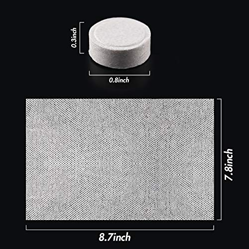BigOtters 100 PCS Compressed Towel, 7.8 x 8.7 inches Hand Towels Tablet Towel Cotton Coin Tissue for Travel Camping Home Bathroom Beauty Salon Outdoor Sports Businesstrip