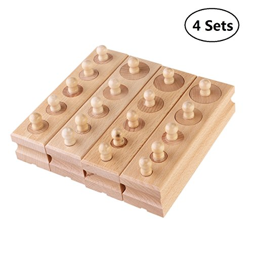 EBTOYS Wooden Educational Toy Montessori Cylinder Socket Early Development (Cylinder Toy)