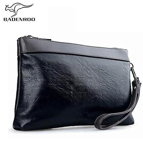 Hot Simple Men Clutch Bag Wallet Handy Brand Leather ...
