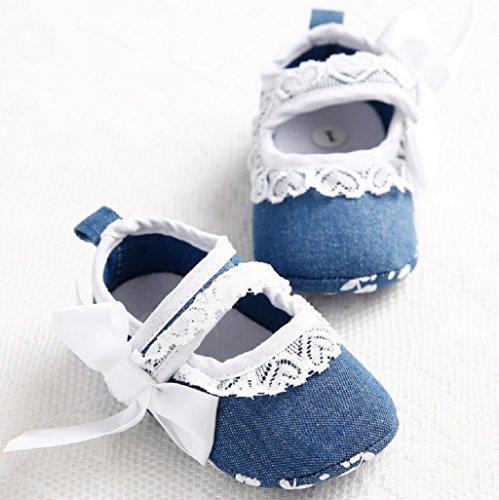 Zapatos para bebé Auxma Zapatos de cuna para bebés Prewalker Zapatos Zapatos anti del resbalón del resbalón del bebé Para 3-6 6-12 12-18 mes