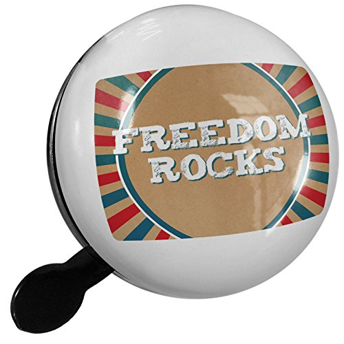 Small Bike Bell Freedom Rocks Fourth of July Vintage Poster Design - NEONBLOND by NEONBLOND