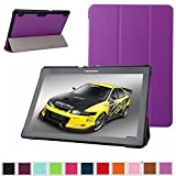 """Lenovo Tab 2 A10 Slim Shell Case,Mama Mouth Ultra Slim Lightweight 3-folding PU Leather Standing Cover For 10.1"""" Lenovo Tab 2 A10-70L / A10-70F Andriod Tablet,Purple"""
