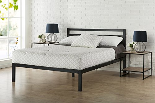 Zinus Modern Studio 14 Inch Platform 3000H Metal Bed Frame/Mattress Foundation/Wooden Slat Support/with Headboard/Good Design Award Winner, Queen