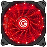 Circle 120MM High Quality 15 LED (RED LED) Silent Cabinet Cooling FAN / Connector: 4-pin and 3-pin / R.P.M.: 1650 +- 10%W / Bearing Type: Hydraulic Long-life Sleeve